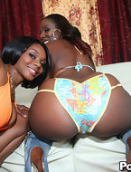 Two of the finest black honies are in the house, Big Booty Baby Cakes and Mass Ass Kelly Star